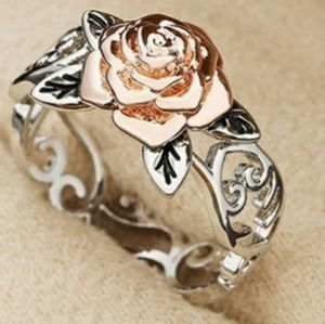 Rose Gold and .925 Sterling Silver Ring